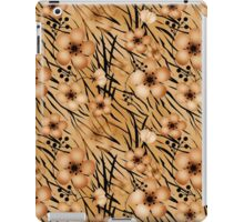 Seamless floral patterns backgrounds .Floral backgrounds, tiger background iPad Case/Skin