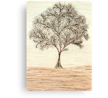 Feathered Tree Canvas Print