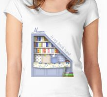 Heaven Is My Book Nook Women's Fitted Scoop T-Shirt