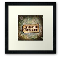 Destination Dachshund Square Framed Print