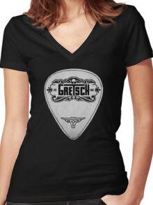 GRETSCH PICK PLECTRUM Women's Fitted V-Neck T-Shirt