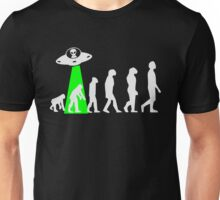 Human Evolution Manipulated By Space Aliens Unisex T-Shirt