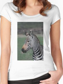 Zebra Style Women's Fitted Scoop T-Shirt