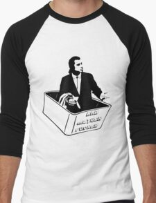 Pulp Fiction Vincent Vega Confused No Money Wallet Men's Baseball ¾ T-Shirt