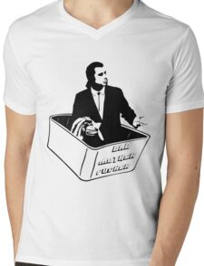 Pulp Fiction Vincent Vega Confused No Money Wallet Mens V-Neck T-Shirt
