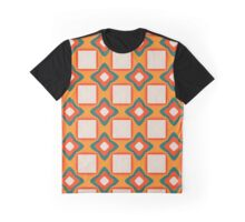 Flowers and squares pattern Graphic T-Shirt