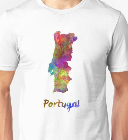 Portugal in watercolor Unisex T-Shirt