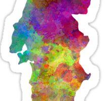 Portugal in watercolor Sticker