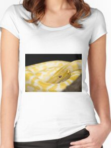 Yellow Snake Women's Fitted Scoop T-Shirt