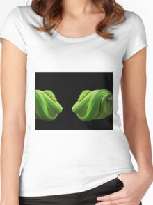 Green Snake Women's Fitted Scoop T-Shirt
