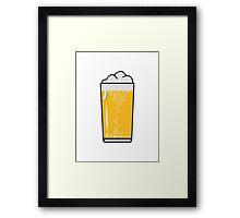 Drinking beer drinking beer glass Framed Print