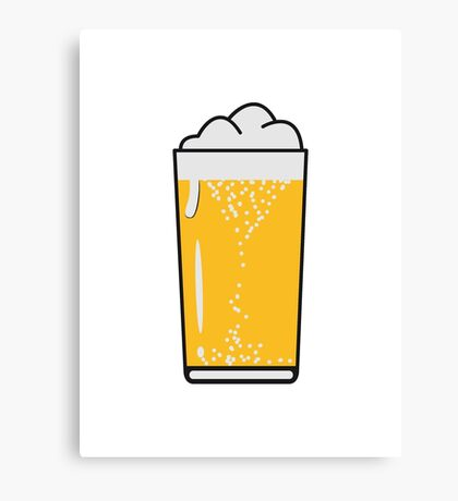 Drinking beer drinking beer glass Canvas Print