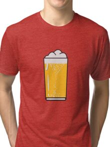 Drinking beer drinking beer glass Tri-blend T-Shirt