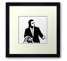 Pulp Fiction Vincent Vega Confused Framed Print