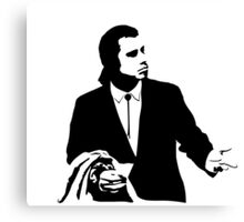 Pulp Fiction Vincent Vega Confused Canvas Print
