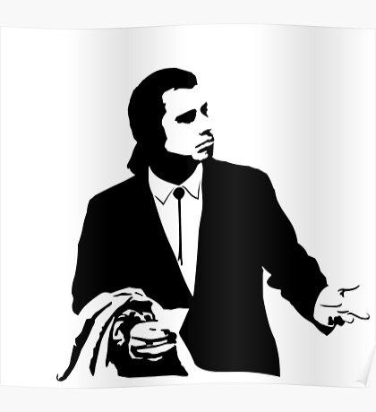 Pulp Fiction Vincent Vega Confused Poster