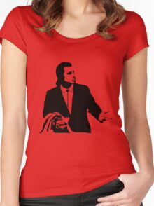 Pulp Fiction Vincent Vega Confused Women's Fitted Scoop T-Shirt
