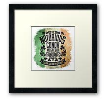Conor McGregor Crest Tricolour Framed Print