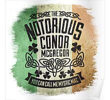 Conor McGregor Crest Tricolour Poster