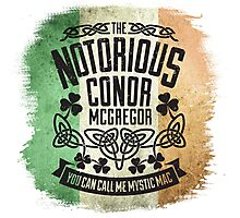 Conor McGregor Crest Tricolour Photographic Print