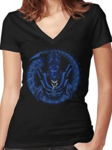 Into the Dark Women's Fitted V-Neck T-Shirt