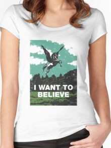 I want to believe (in unicorns) Women's Fitted Scoop T-Shirt