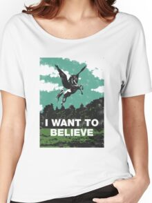 I want to believe (in unicorns) Women's Relaxed Fit T-Shirt