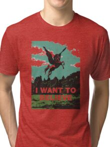 I want to believe (in unicorns) Tri-blend T-Shirt
