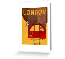 Tube Train Greeting Card