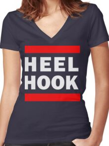 Heel Hook (BJJ & MMA) Women's Fitted V-Neck T-Shirt