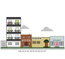 Home Town - Main Street Photographic Print
