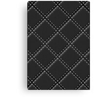 Quilted Black Leather Automotive Materials and Textures Canvas Print
