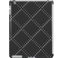Quilted Black Leather Automotive Materials and Textures iPad Case/Skin