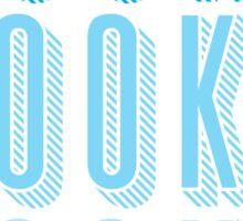 BOOKS BOOKS BOOKS in blue Sticker