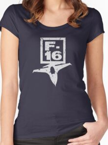 F16 Fighter Women's Fitted Scoop T-Shirt