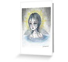 Weeping Angel (water) Greeting Card
