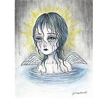 Weeping Angel (water) Photographic Print