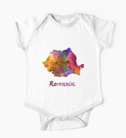 Romania in watercolor One Piece - Short Sleeve