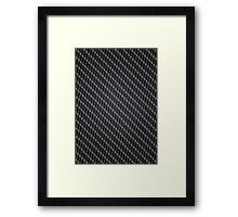 Carbon Fibre Automotive materials and Patterns Framed Print