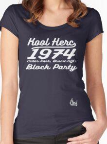 DJ Kool Herc Block Party [wht] Women's Fitted Scoop T-Shirt