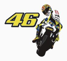 Valentino Rossi drawn motorbike One Piece - Long Sleeve