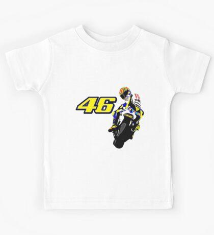 Valentino Rossi drawn motorbike Kids Tee