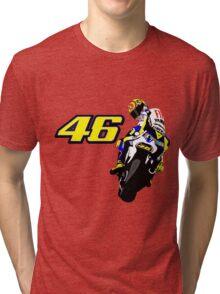 Valentino Rossi drawn motorbike Tri-blend T-Shirt