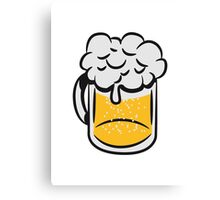 Beer drinking handle Canvas Print