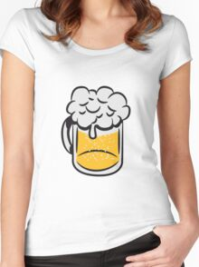 Beer drinking handle Women's Fitted Scoop T-Shirt