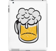Beer drinking handle iPad Case/Skin