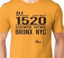 DJ Kool Herc Sedgwick Avenue [blk] Unisex T-Shirt