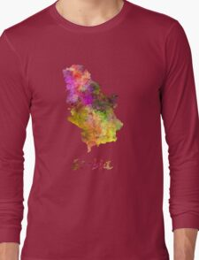 Serbia in watercolor Long Sleeve T-Shirt