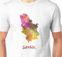 Serbia in watercolor Unisex T-Shirt