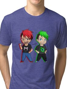 Markiplier and Jacksepticeye Tri-blend T-Shirt